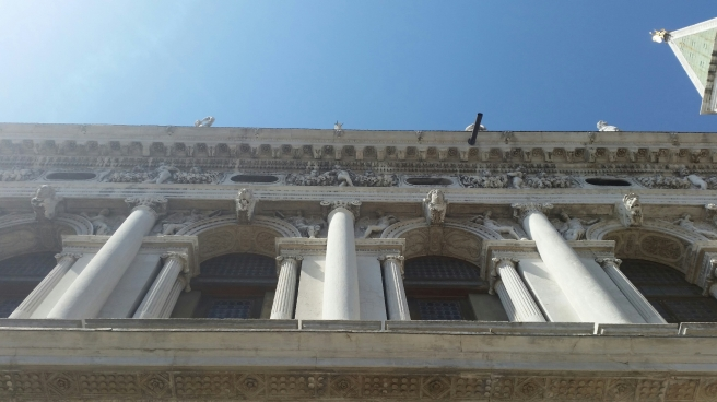 Biblioteket i venedig. Biblioteca Nationale Marciana.
